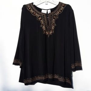 Alfred Dunner Tunic with Embroidery